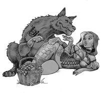 Rotkäppchen, Wolf, Tattoo, Zeichnungen
