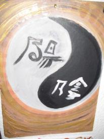 Acrylmalerei, Pinsel, Schwamm, Kunststoff