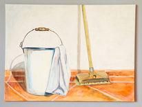 Gegenständlich, Stillleben, Haushaltsgegenstände, Acrylmalerei