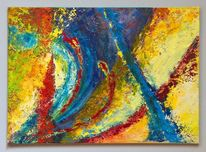 Spachteltechnik, Acrylmalerei, Malerei, Abstrakt