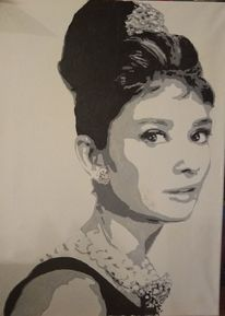 Audrey hepburn, Hollywood, Malerei,
