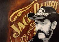 Lemmy kilmister, Jack daniels, Motörhead, Malerei