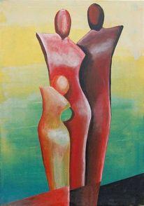 Zusammenhalt, Familie, Geborgenheit, Malerei