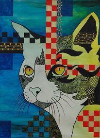 Katze, Kater, Malerei