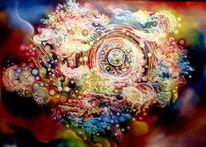 Stern, Universum, Planet, Malerei