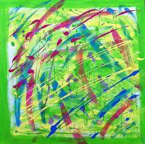 Gelb, Acrylmalerei, Bunt, Blau
