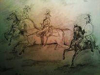 Soldat, Offizier, Pferde, Reiter