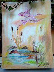 Wasser, Landschaft, Storch, See