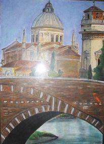 Verona, Dom, Brücke, Malerei