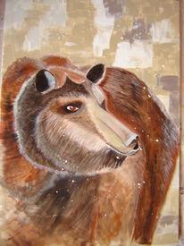 Grissly, Acrylmalerei, Winterschlaf, Tiere