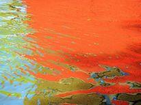 Struktur, Wasser, Spiegelung, Farben