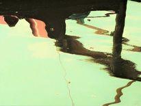 Wasser, Verzerrung, Spiegelung, Farben