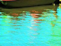 Boot, Steg, Wasser, Farben