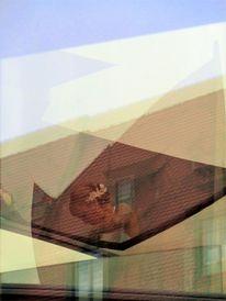 Spiegelung, Architektur, Braut, Portrait