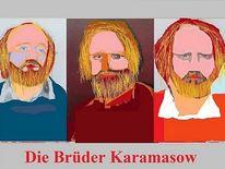 Buch, Illustration, Buchumschlag, Die brüder karamasow