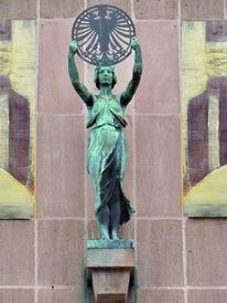 Collage, Skultur, Hausfassade, Nürnberg