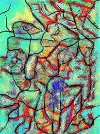 Digital, Abstrakt, Farben, Malerei