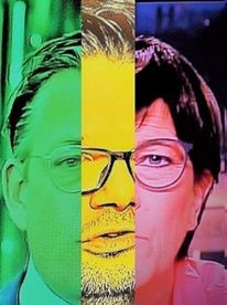 Kopf, Dreiklang, Mann, Politische farbenlehre