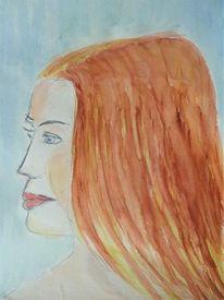 Kopf, Menschen, Portrait, Frau