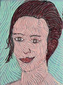 Frau, Gesicht, Kopf, Menschen