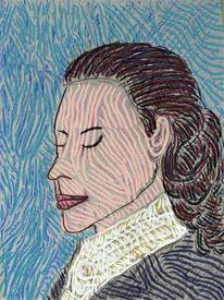 Menschen, Portrait, Frau, Kopf