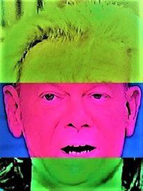 Mann, Gesicht, Grünrotgelb, Frau