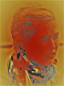 Menschen, Farben, Frau, Gesicht
