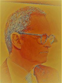 Portrait, Gesicht, Mann, Farben