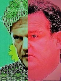Koalition, Portrait, Politische farbe, Halbporträts