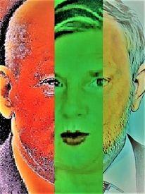 Mann, Kopf, Frau, Portrait