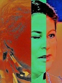 Menschen, Portrait, Kopf, Frau