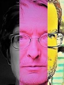 Politisch farbenlehre, Mann, Gesicht, Menschen