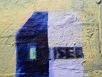Haus, Farben, Malerei, Aufdruck