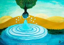Wasser, Baum, Tropfen, Wüste
