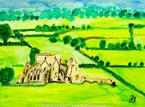 Irland, Ruine, Landschaft, Abtei