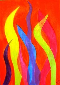 Grell, Kontrast, Grelle farben, Flammen