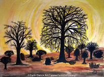 Baobab, Sonnenuntergang, Afrika, Sahel