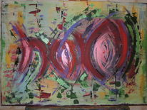 Abstrakte malerei, Grün, Moderne bilder, Abstrakt