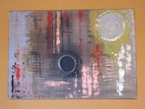 Kraftvoll, Acrylmalerei, Einrichtung, Meditation