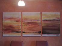 Natur, Acrylmalerei, Naturgewalt, Moderne malerei