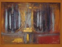 Moderne kunst, Edel, Abstrakt, Acrylfarben