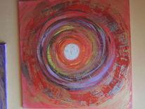 Abstrakte malerei, Einrichtung, Acrylmalerei, Moderne kunst
