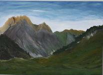 Licht, Berge sonne, Leuchten, Malerei