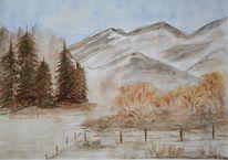 Berge, Stille, Herbst, Himmel