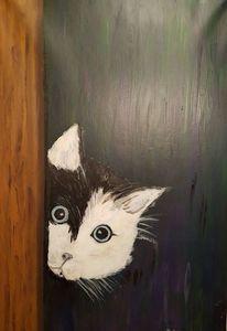 Groß, Angst, Katze, Augen