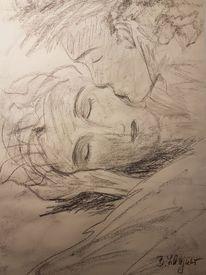 Zärtlichkeit, Mann, Schlaf, Frau