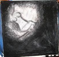 Ölmalerei, Kreide, Schwarz weiß, Kunsthandwerk
