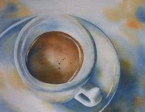 Tasse, Aquarellmalerei, Espresso, Kaffee