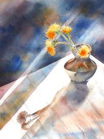 Blumen, Geschenk, Weihnachten, Aquarellmalerei