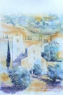 San antimo, Basilika, Italien, Toskana
